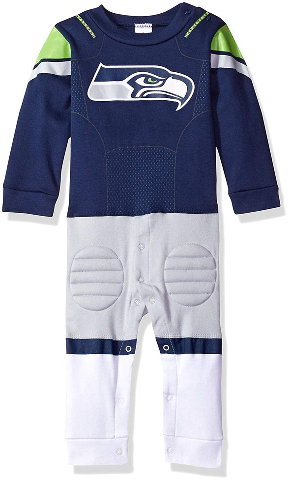 NFL Infants Seattle Seahawks Footless Footysuit, Navy