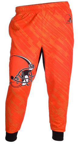 KLEW NFL Men's Cleveland Browns Cuffed Jogger Pants, Orange