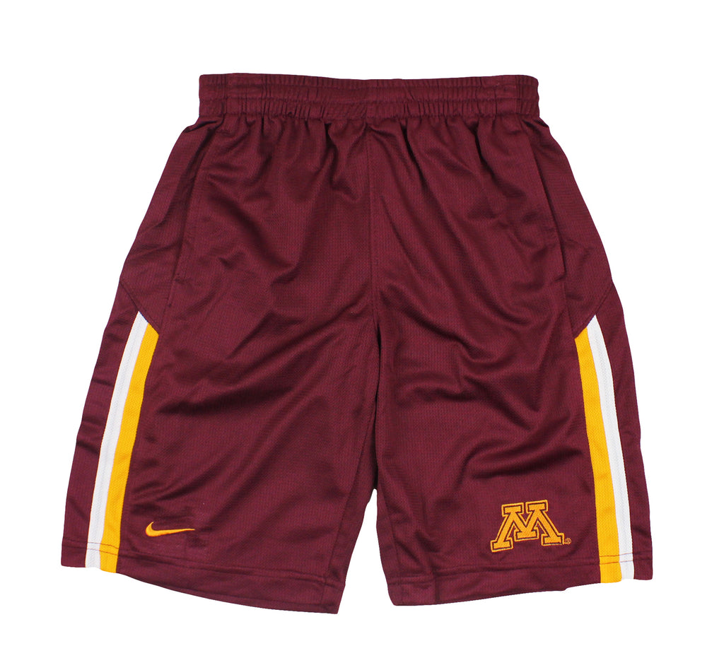 half off 851d0 90ce2 Nike NCAA Youth Minnesota Golden Gophers Team DriFIT Athletic Shorts, Maroon