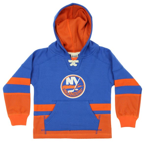 CCM NHL Youth New York Islanders Retro Skate Pullover Hoodie, Blue