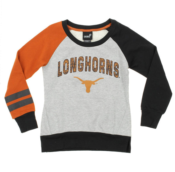 NCAA Youth Texas Longhorns Amethyst Long Sleeve Shirt, Grey