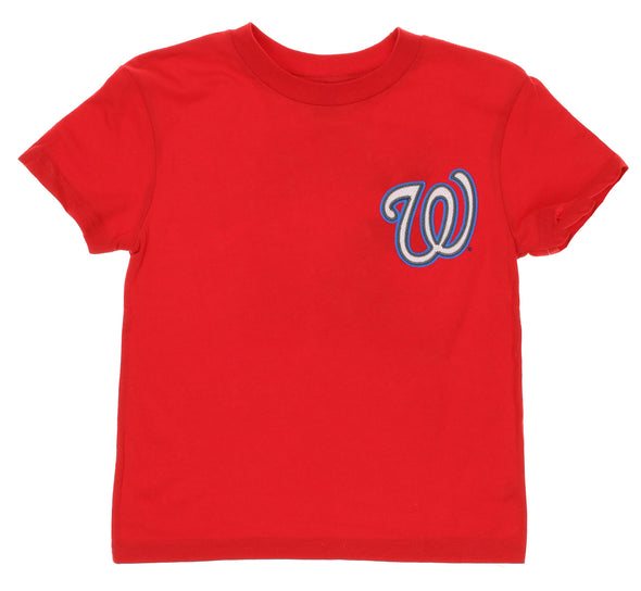 Outerstuff MLB Kids Washington Nationals Bryce Harper #34 Player Tee, Red