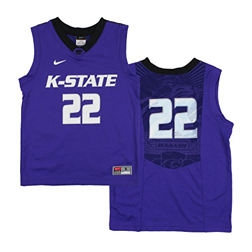 promo code be137 f7875 Nike NCAA Youth Boys Kansas State Wildcats  22 Elite Basketball Jersey –  Fanletic