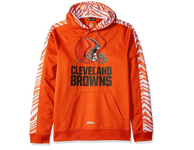 Zubaz Men's NFL Cleveland Browns Pullover Hoodie With Zebra Accents