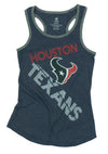 NFL Football Youth Girls Houston Texans Off Side Racerback Tank Top, Navy