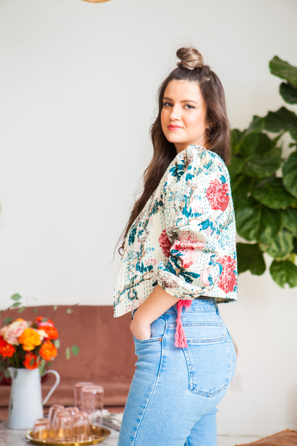 Cropped Bohemian Folk Jacket