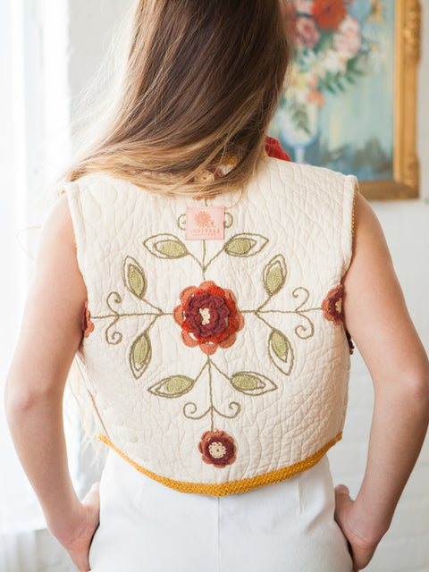 Take Me Away Quilted Festival Vest