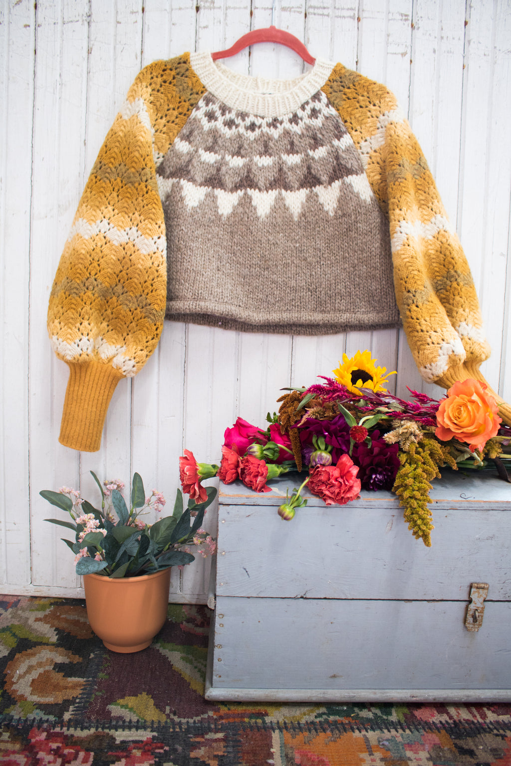 Golden Sky Crop Sweater