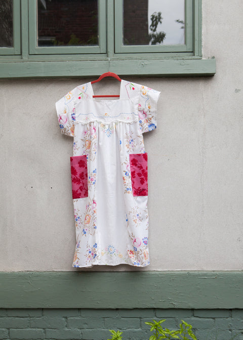 Heritage Rose Embroidered Peasant Dress