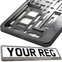 1x Number Plate Surround Holder Black for any car