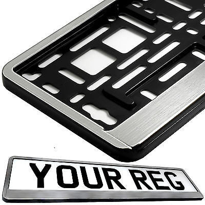 STAINLESS STEEL EFFECT FRONT Car Number Plate Surround Holder FOR ANY CAR VAN  sc 1 st  Shopify & TAPORT CAR NUMBER PLATE HOLDERS