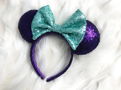 Ariel Little Mermaid Minnie Mouse Ears