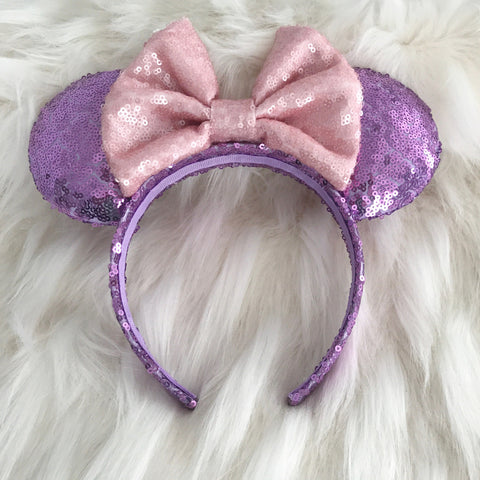 Pink Rapunzel Minnie Mouse Ears