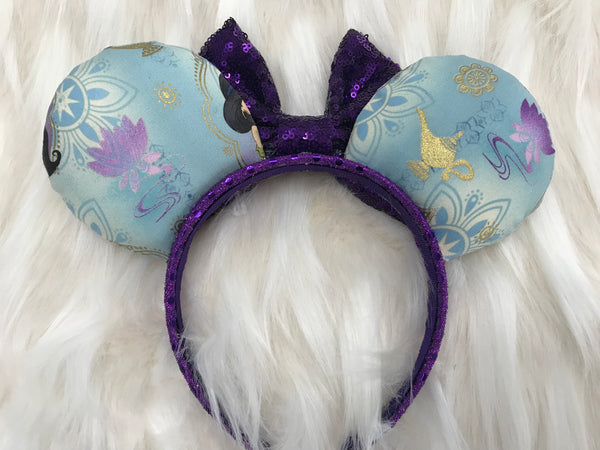 Jasmine  Sequin Minnie Mouse Ears Mickey Mouse Ears Glitter Mickey Ears Sequin Mickey Ears - MADE TO ORDER