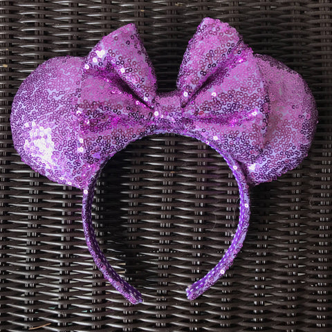 Light Purple Sequin Minnie Mouse Ears