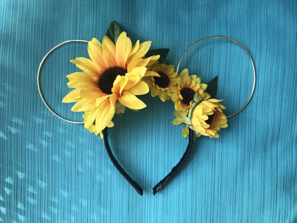 Limited Edition - Sunflower Dreams Mickey Floral Wire Ears