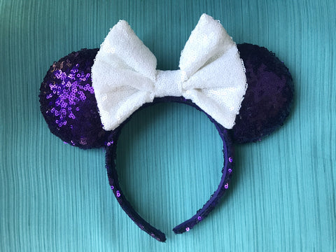 Haunted Mansion Sequin Minnie Mouse Ears (Light)