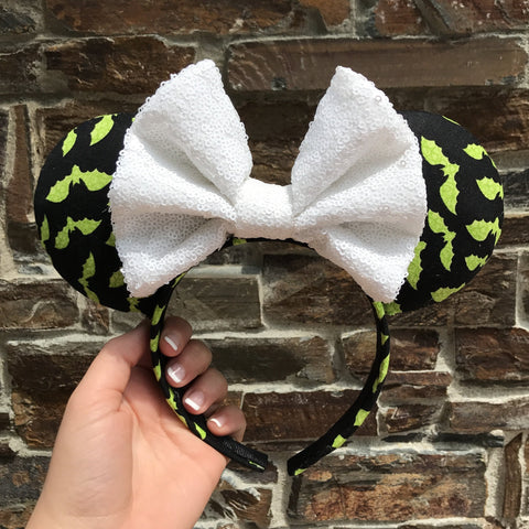 Bats Halloween Ears - Pick Your Bow Color