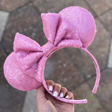Bubblegum Full Sequin Minnie Mouse Ears