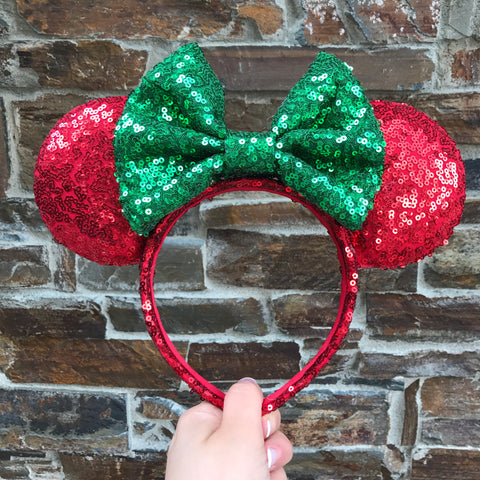 Christmas Minnie Mouse Ears