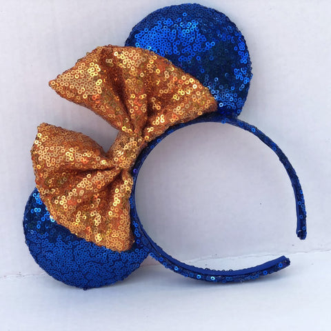 Gator (Opposite) Sequin Minnie Mouse Ears (UF)