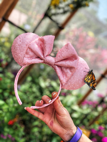 Millennial Pink Full Sequin Minnie Mouse Ears