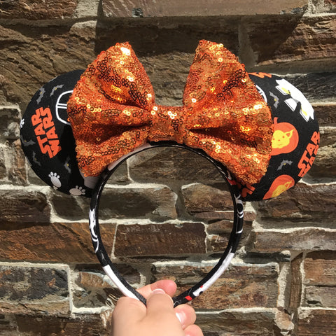 Starwars Halloween Ears - Pick Your Bow Color