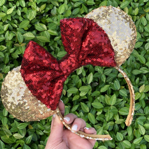 Belle Sequin Minnie Mouse Ears