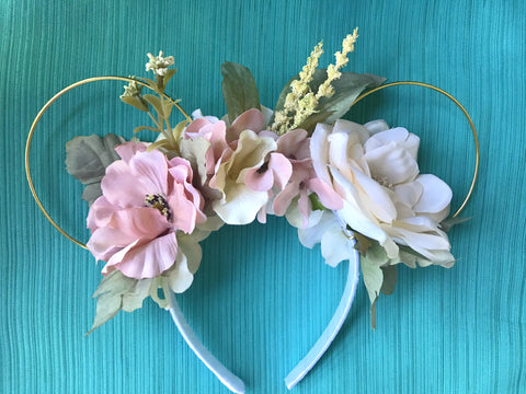 Sleeping Beauty Inspired Mickey Mouse Floral Ears