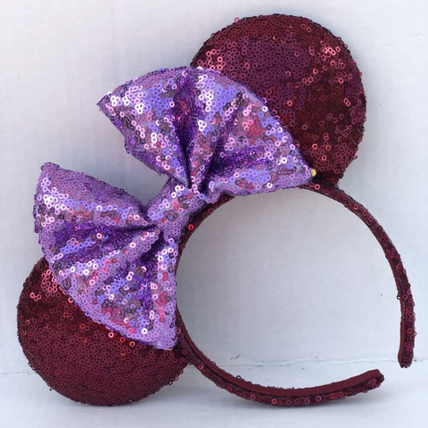 Sigma Kappa Sorority Full Sequin Minnie Mouse Ears