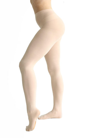 Convertible Opaque Tights with HD Line
