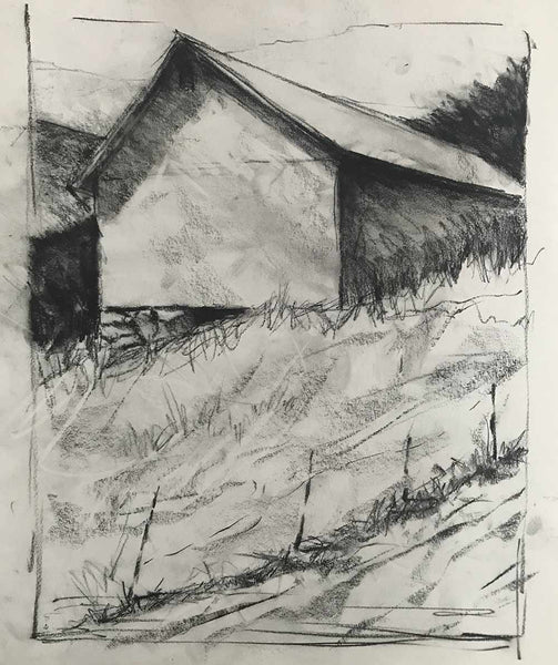Charcoal study #1 for Berkshire Series