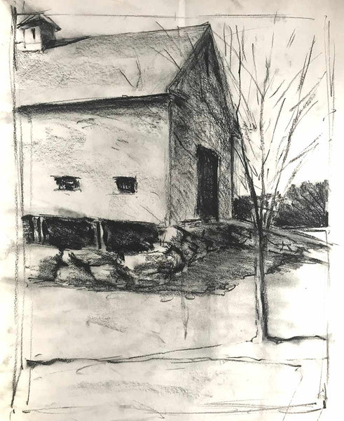 Charcoal study #1 for Amherst Series