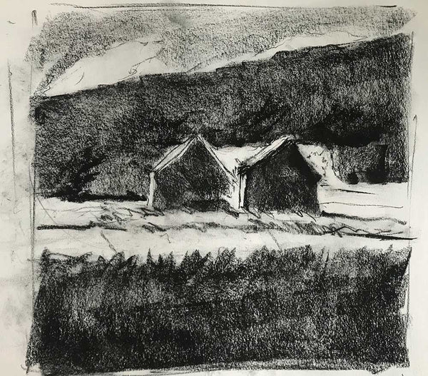"Charcoal study for ""Lowland Clearing"""