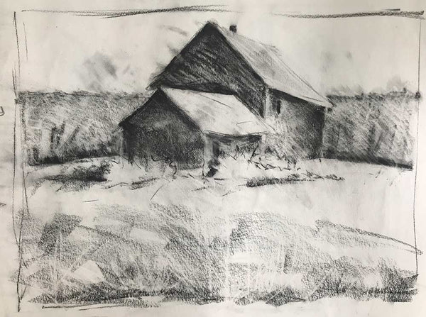 "Charcoal study for ""Summer Haze"""