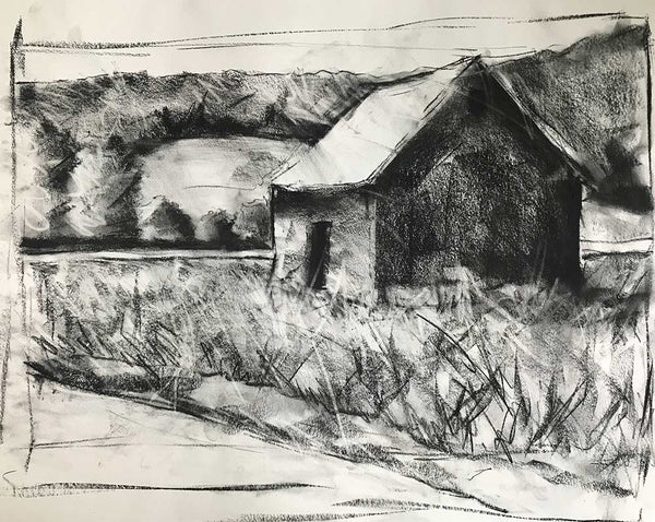 "Charcoal Study for ""Back Road"""