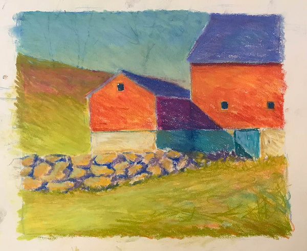 "Pastel Study of ""Farm Wall"""