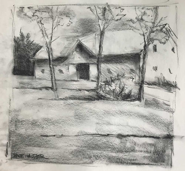 "Charcoal study for ""First of May"""