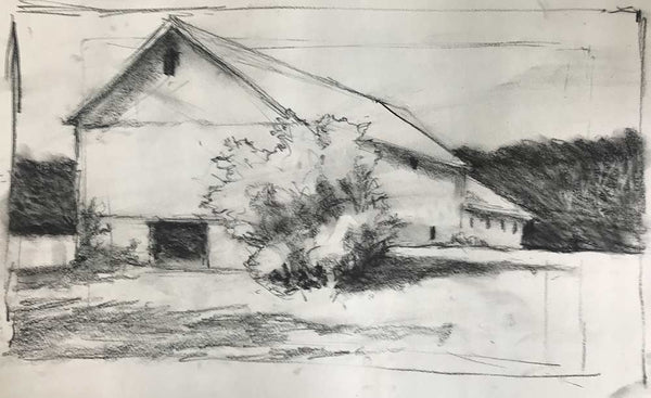 "Charcoal study for ""Northern Spring"""