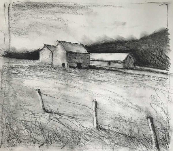 "Charcoal study for ""Stillness"""