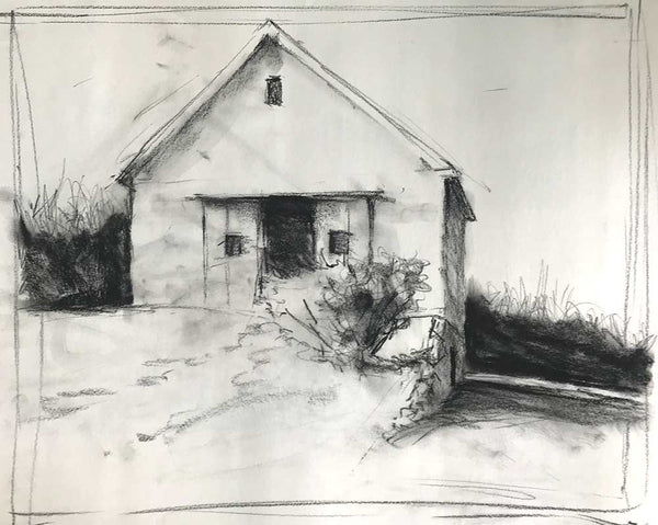 "Charcoal study for ""April"""