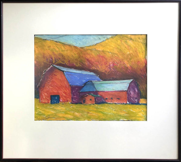 """South of Stowe (pastel study)"""