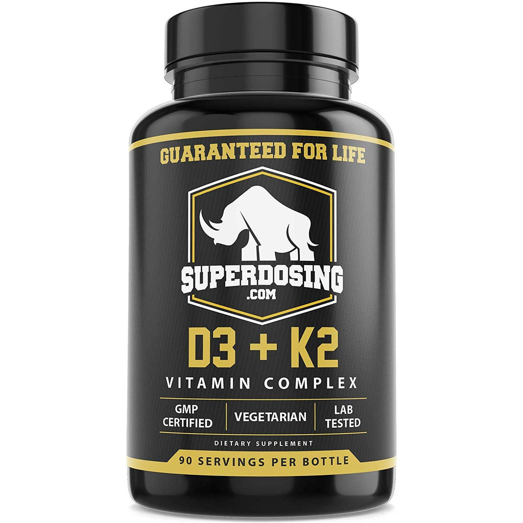 Max Strength D3 and K2: 10,000 iu D and 1500 mcg K2 by SuperDosing. 270x 2in1 High Potency Caps for Heart and Bone Health. Vitamin D and VIT K Supplement Boosts Energy and Immune System
