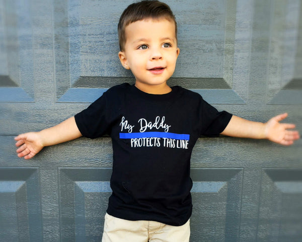 My Daddy Protects This Line © - Toddler/Youth T-Shirt