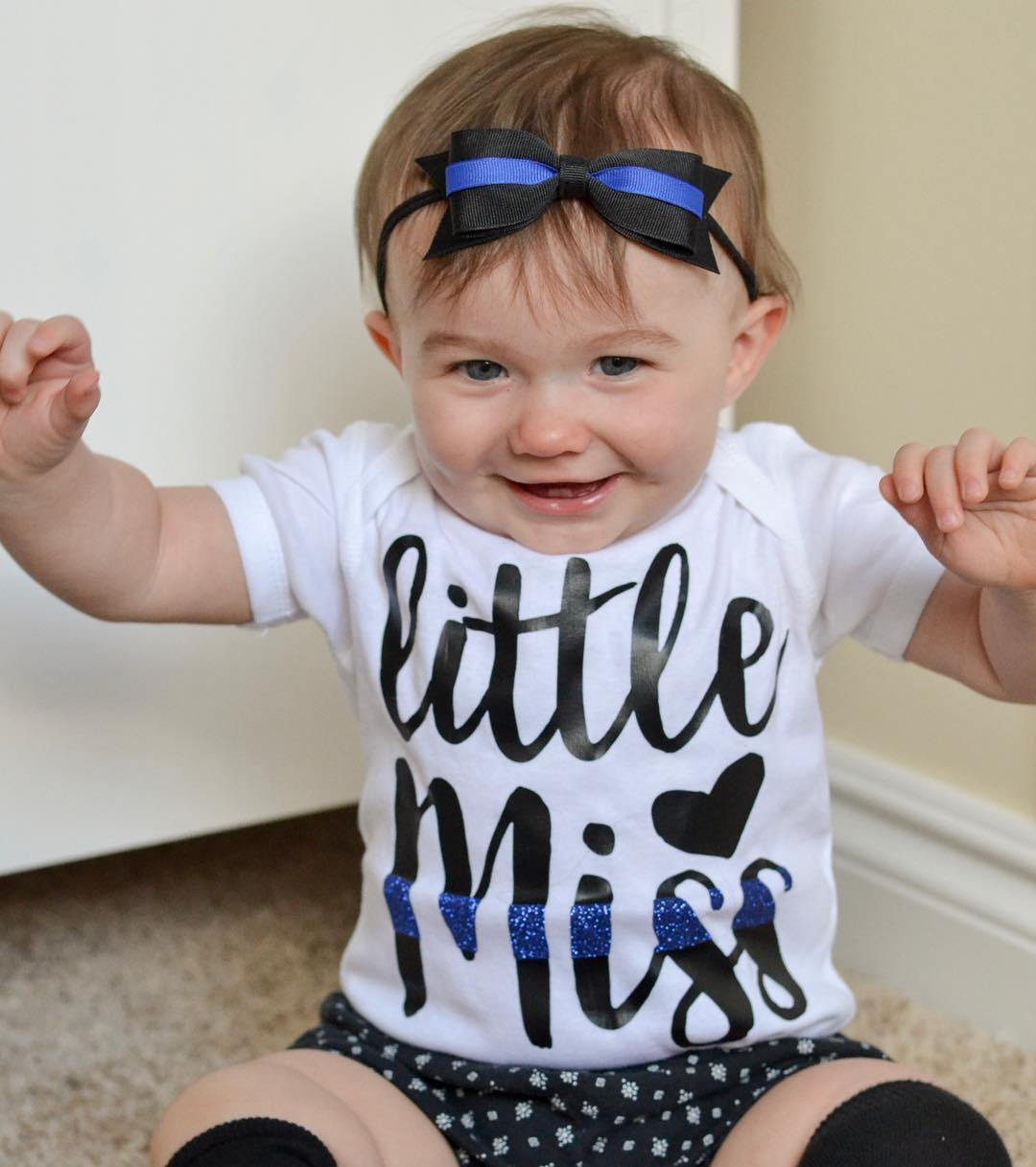 Little Miss - Thin Blue Line - Infant Bodysuit