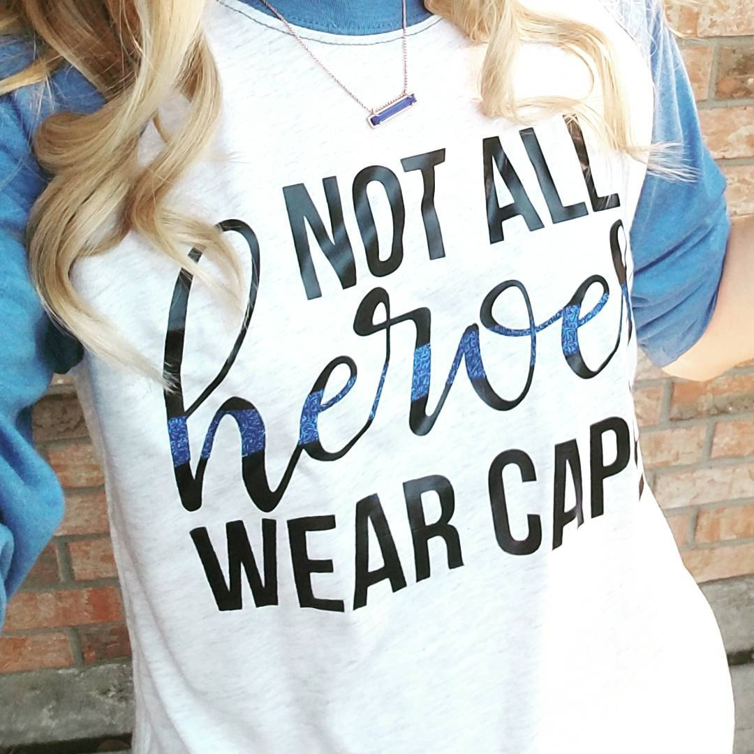 Not All Heroes Wear Capes © - 3/4 Sleeve Raglan