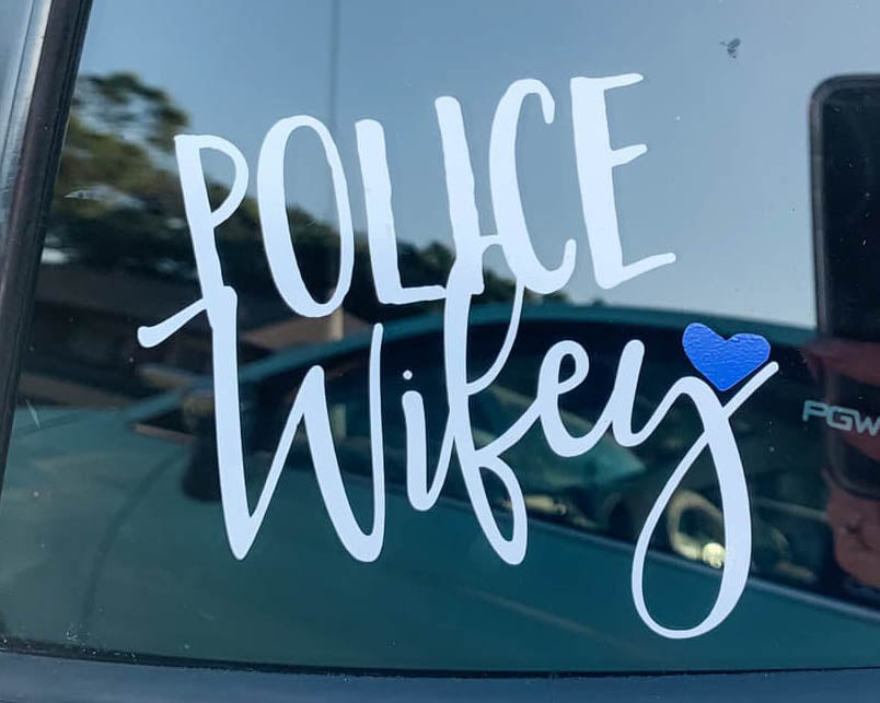 Police Wifey © - Decal