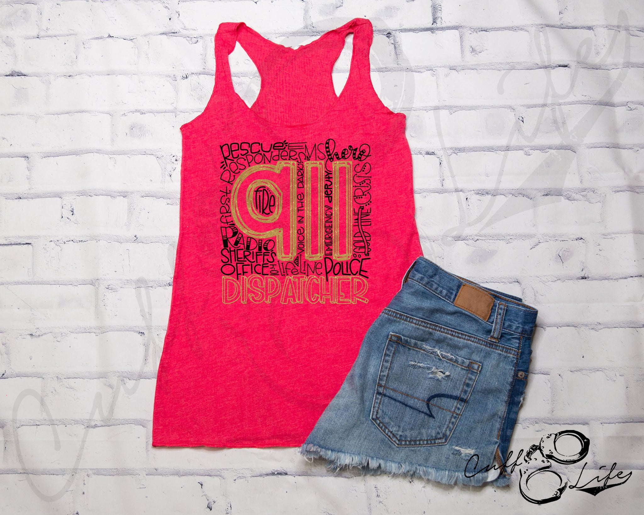 911 Dispatcher - Racerback Tank