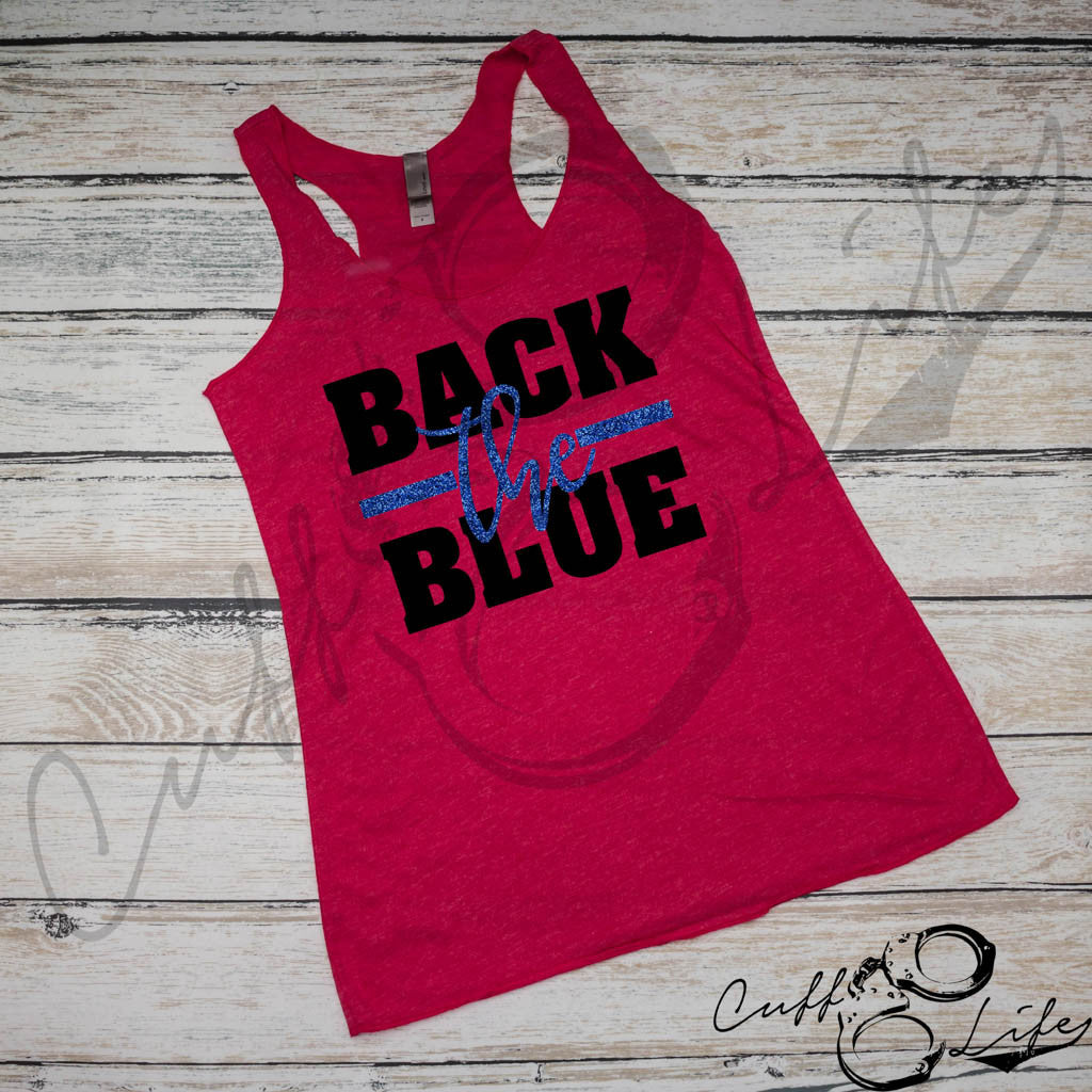 Back The Blue - Racerback Tank