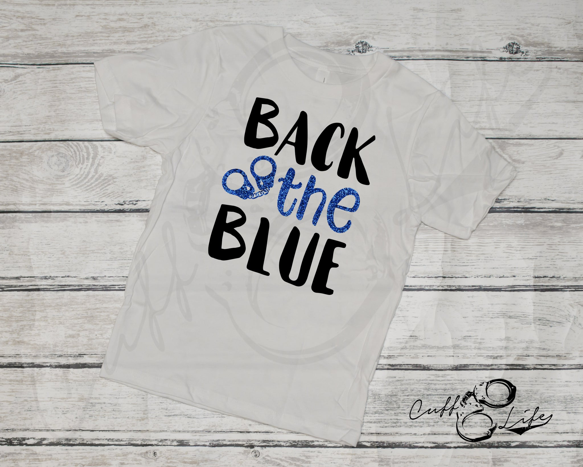 Back The Blue (Handcuffs) - Toddler/Youth T-Shirt